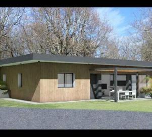 Maison Contemporaine En C A Toit Terrasse Vegetalise A Bessieres Une Realisation De Atelier Scenario