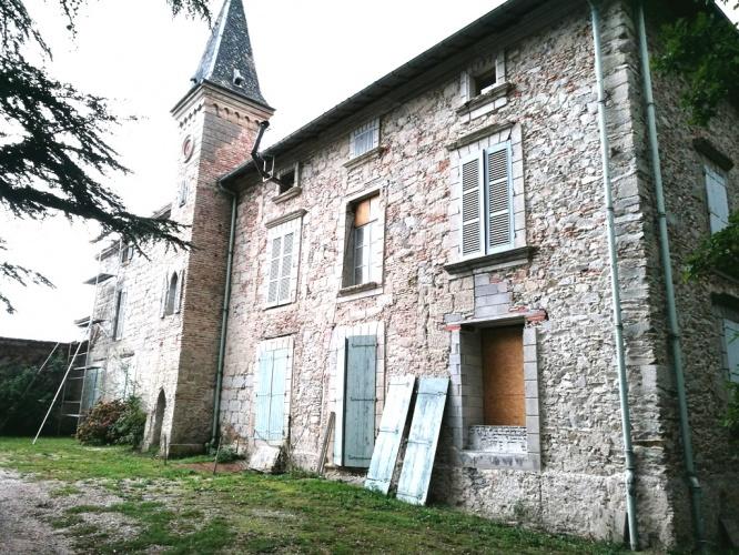 Rénovation de château : Façade arrière 2