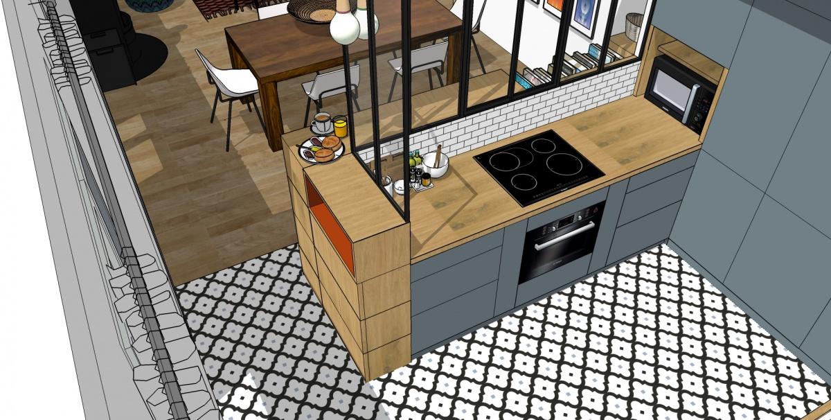 Creation grande piece a vivre avec cuisine ouverte - Deco piece a vivre avec cuisine ouverte ...