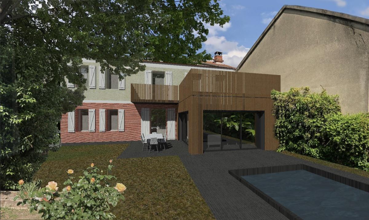 Extension en Ossature Bois d'une Maison de Ville