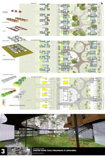 Création de 38 logements coopératifs : planche HABITAT