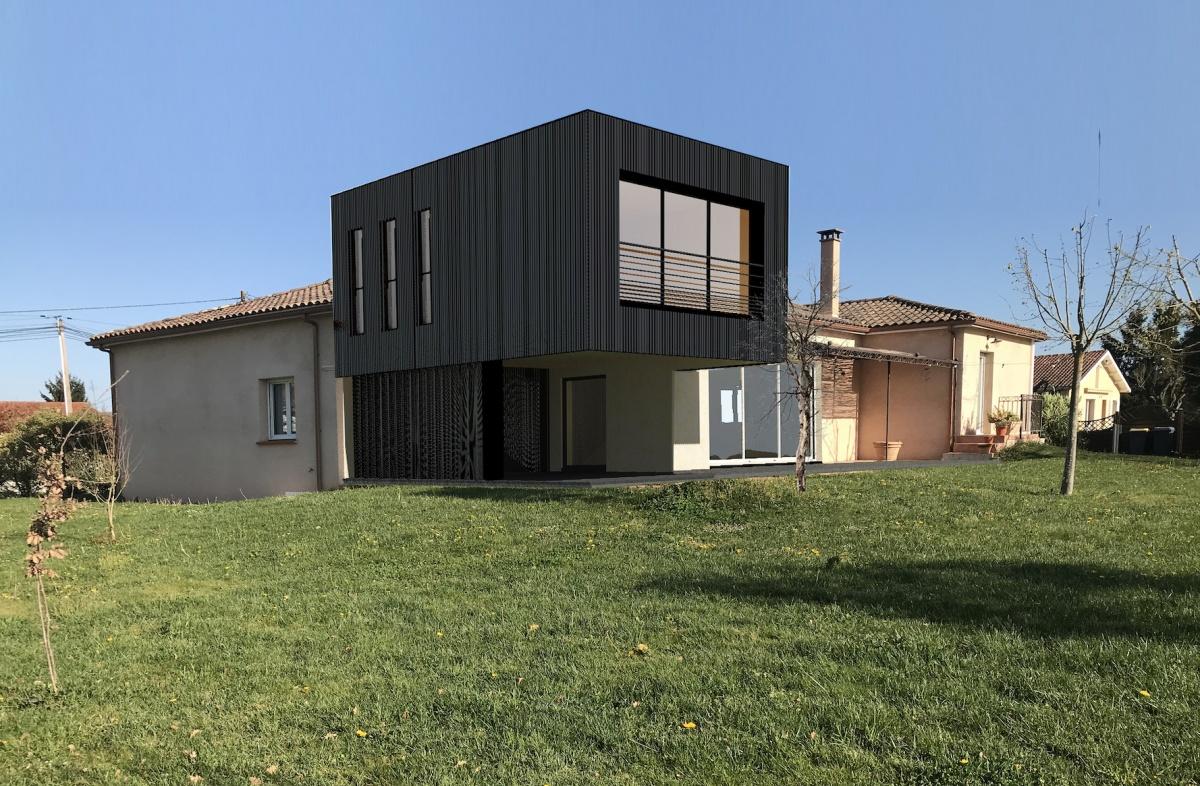 Surélévation/Extension en ossature bois d'une maison d'habitation