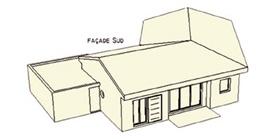 Maison bioclimatique G (31) : volume sur sud