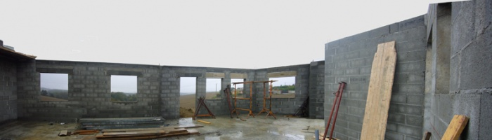 Maison bioclimatique G (31) : pano intérieur copie