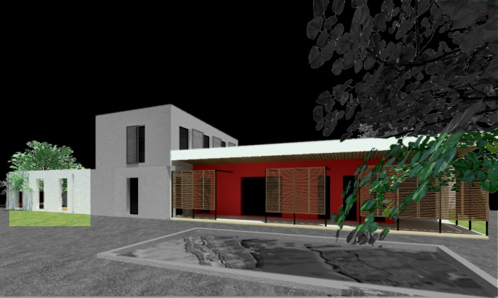 Villa contemporaine basse consommation proximit for Jardin villa xavier jiutepec