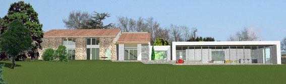 Extension d'une grange à Maurens (Permis)