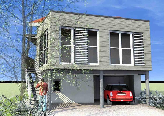 Affichage permis de construire constat dhuissier devis for Extension maison 67