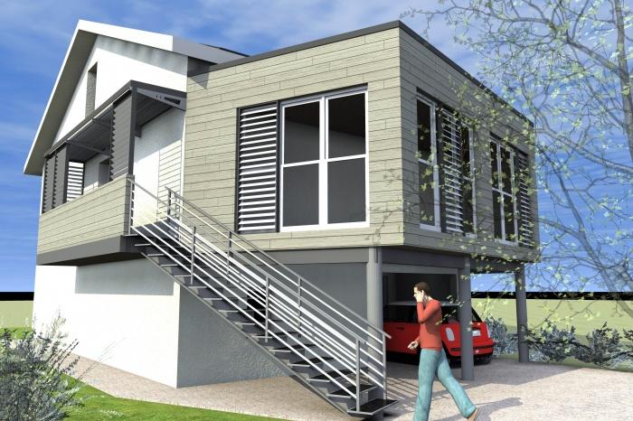 Extension de maison : Vue de l'ensemble