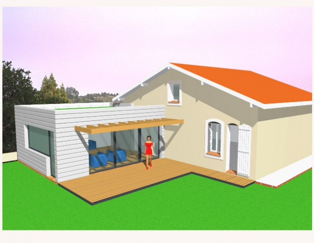 Permis pour extension garage exemple de devis travaux for Constructeur maison 63