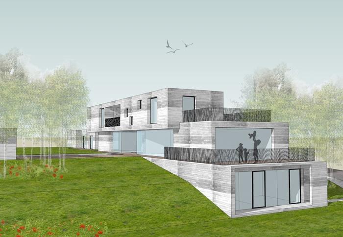 concrete house lauzerville une r alisation de agence ar quo. Black Bedroom Furniture Sets. Home Design Ideas