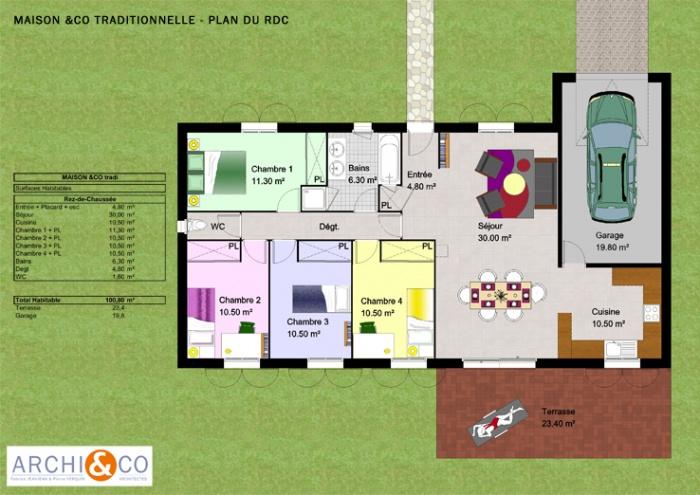 Maison Architecte Plain Pied Affordable M With Maison Architecte