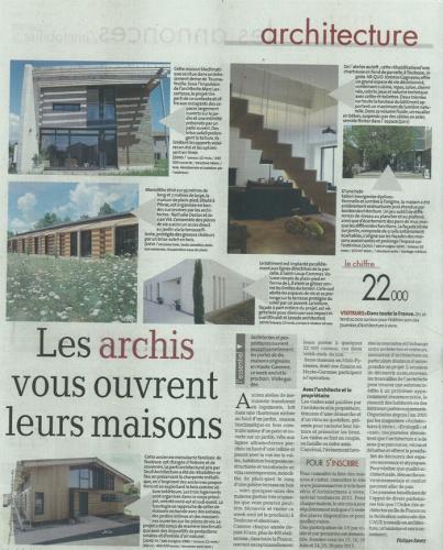 Transformation d'un atelier en loft à Toulouse : article la Depeche du Midi 22.06