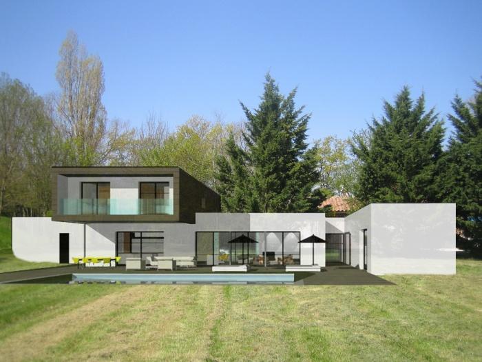 Architectes neuf maison leo r alis e for Projet maison neuf