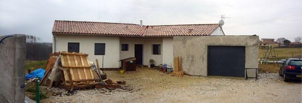 Maison bioclimatique G (31) : façade Nord Ouest