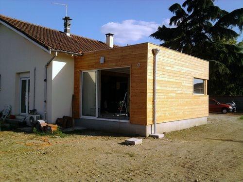 architectes extension bois cugnaux. Black Bedroom Furniture Sets. Home Design Ideas