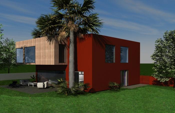 Maison individuelle A : Perspective extérieure