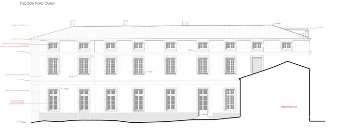 Réhabilitation du Chateau de Drudas : Facade Nord Ouest