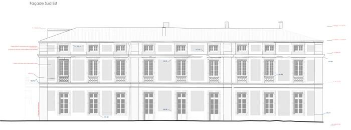 Réhabilitation du Chateau de Drudas : Facade Sud-Est