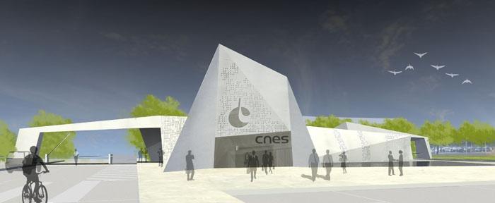 Nouvelle Entrée Sud du CNES à Toulouse