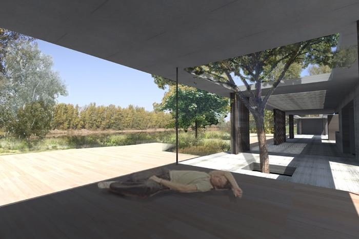 Extension d'une maison au bord d'un lac : la cuna.