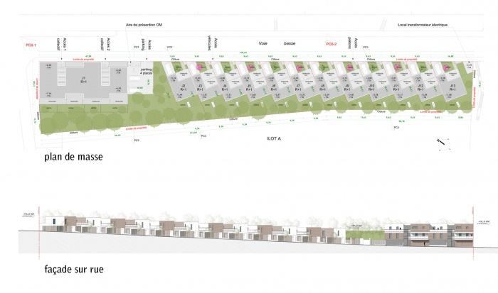 éco-quartier : Plan de masse