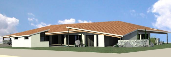 maison contemporaine : vue 1