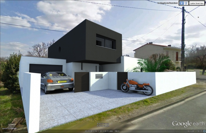 Maison contemporaine tournefeuille une r alisation de for Projet maison moderne