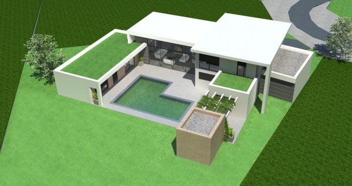 toulouse maison contemporaine toit terrasse 4jpg - Constructeur Maison Contemporaine Toit Plat Avec Pasio