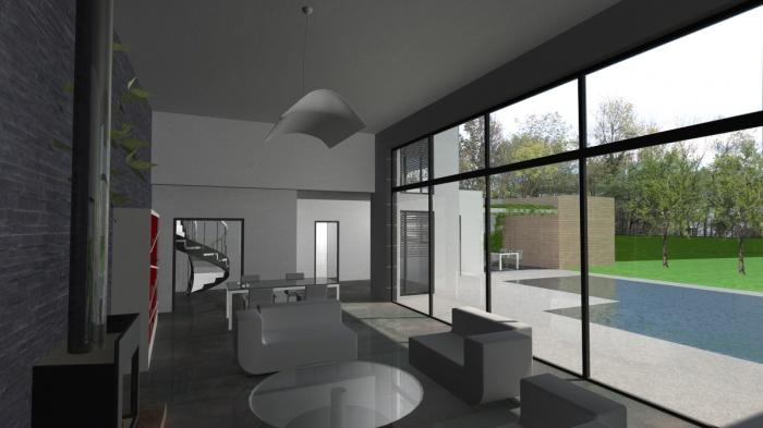 maison contemporaine rt2012 toit terrasse toulouse une r alisation de atelier sc nario. Black Bedroom Furniture Sets. Home Design Ideas