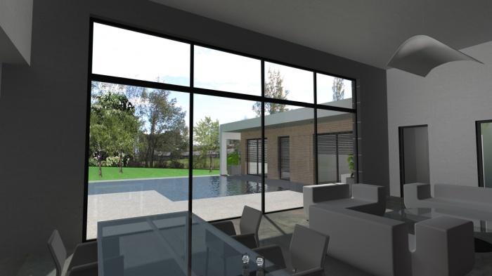 architectes maison contemporaine rt2012 toit terrasse toulouse. Black Bedroom Furniture Sets. Home Design Ideas