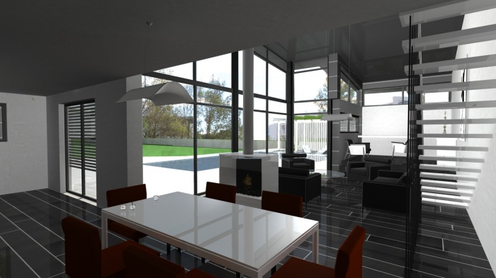 Architectes villa contemporaine rt2012 for Villa contemporaine toit plat