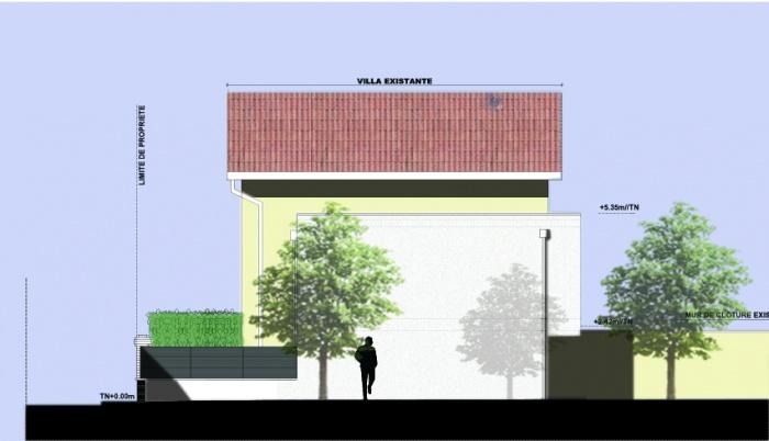 Extension Contemporaine. : facade laterale