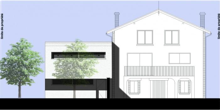 Extension Contemporaine. : facade arriere