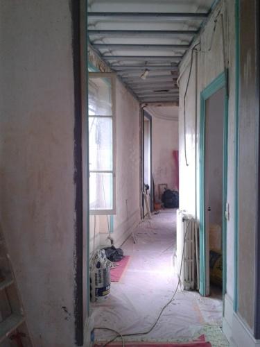 r novation d 39 un appartement de type haussmannien quartier st etienne chantier en cours. Black Bedroom Furniture Sets. Home Design Ideas
