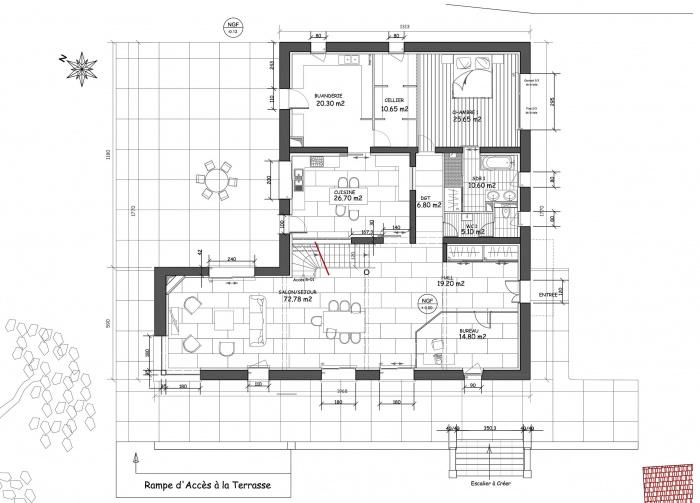 plan maison ancienne