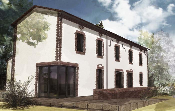 architectes r habilitation d 39 une ancienne maison albigeoise albi. Black Bedroom Furniture Sets. Home Design Ideas