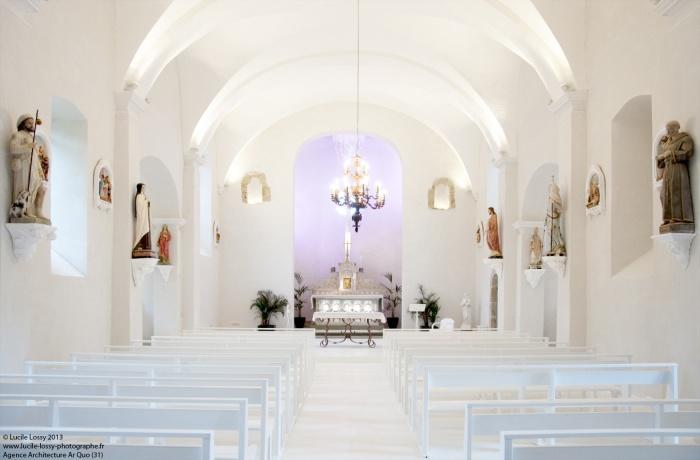 Rénovation de l'église de la Martinié à Villeneuve sur Tarn (81)