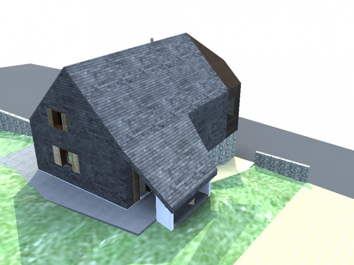 Maison N : vue Nord est
