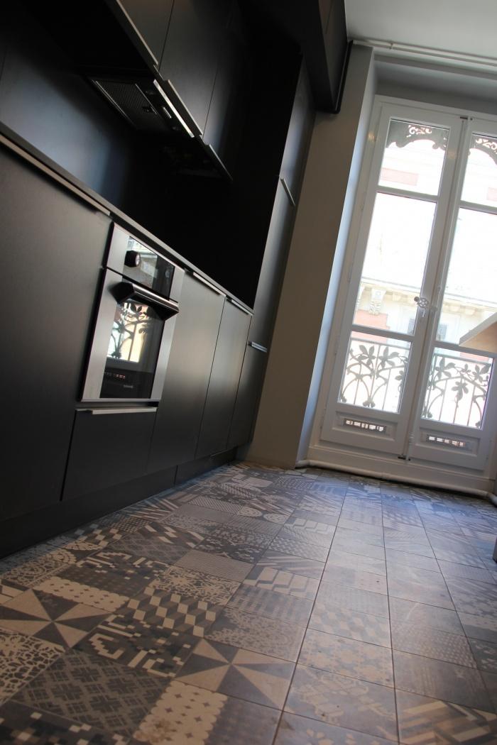 R novation d 39 un appartement de type haussmannien quartier for Carrelage st etienne