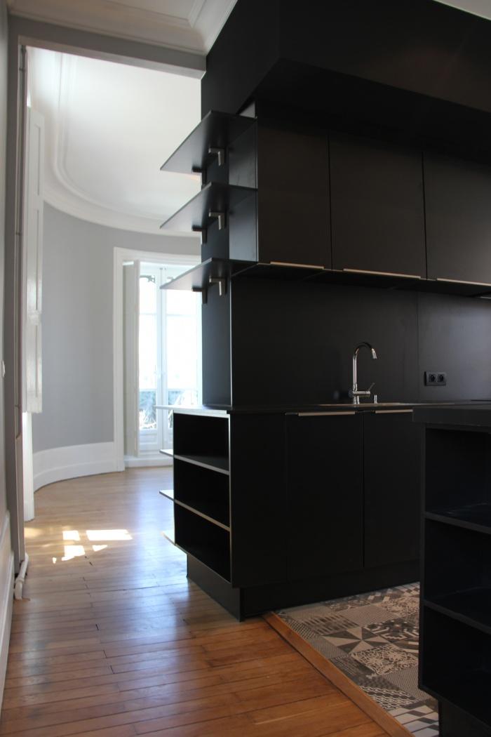 architectes r novation d 39 un appartement de type haussmannien quartier st etienne. Black Bedroom Furniture Sets. Home Design Ideas