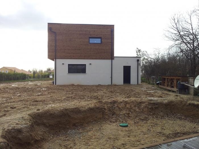 Maison individuelle, ossature bois.