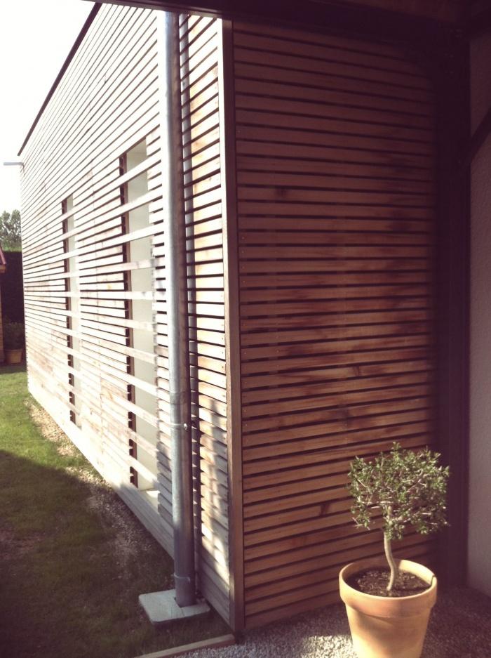 Extension bardage bois clairevoie