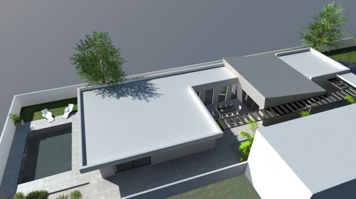 Maison de ville contemporaine à patio à Montauban : une réalisation ...