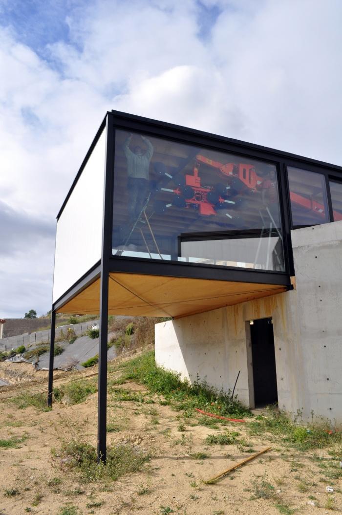 Architectes maison m tallique nailloux - Maison hangar metallique ...