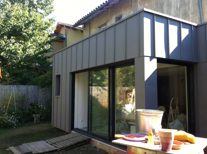 Extension bois/zinc