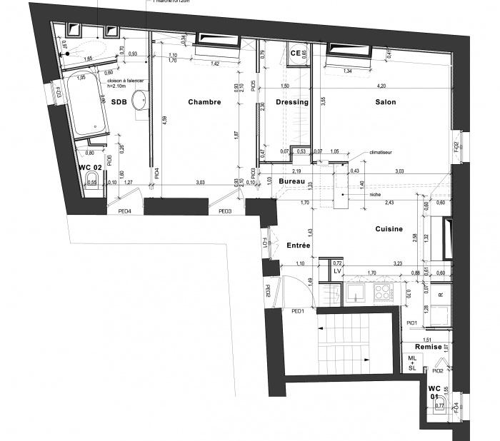 Appartement G : PLan
