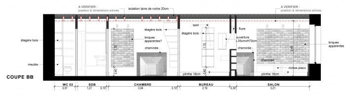 Appartement G : Coupe BB