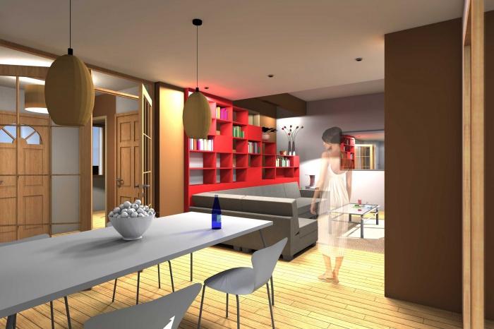 architectes r novation d 39 une maison toulouse pouvourville. Black Bedroom Furniture Sets. Home Design Ideas