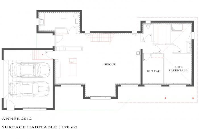 Villa à Montrabé : plan