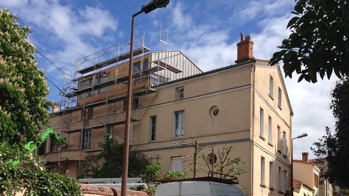 Surélévation d'un immeuble à Toulouse : Bardage.JPG
